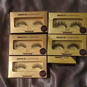 Dito magnetic 3D eyelashes and liner bundle